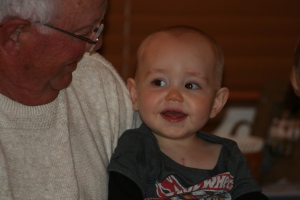 Dad/Great Grandpa and our Little Guy Eli
