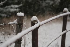 A snow fence