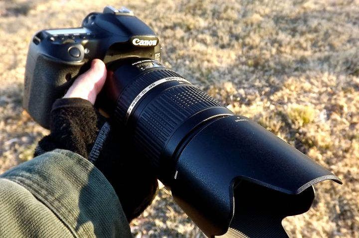 My preferred weapon of choice in this endeavor (Canon 60D with a Tamron 70-300 zoom and Canon F1.4 50mm lens)