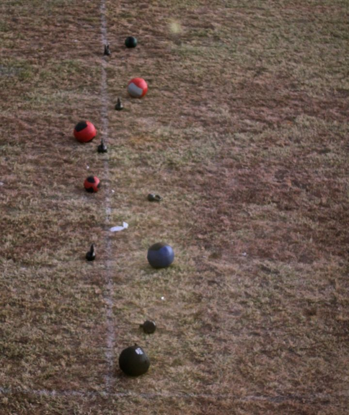 The Core and Cardio guys, and their weighted exercise balls toe the line....