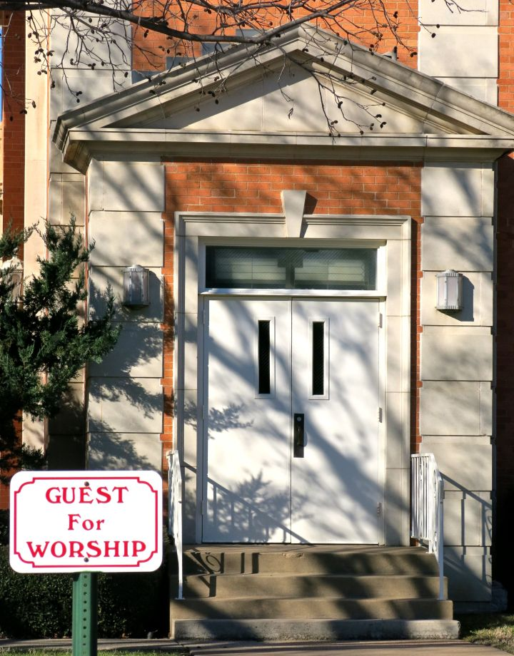 "For the Guest Worshiper, nothing beats front row parking like at the Richland Hills UMC (""Good to see ya, come on in!"" inspired architecture)"