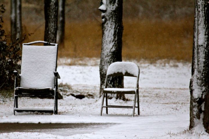 I sure would have loved to sit around and watch the snow melt....
