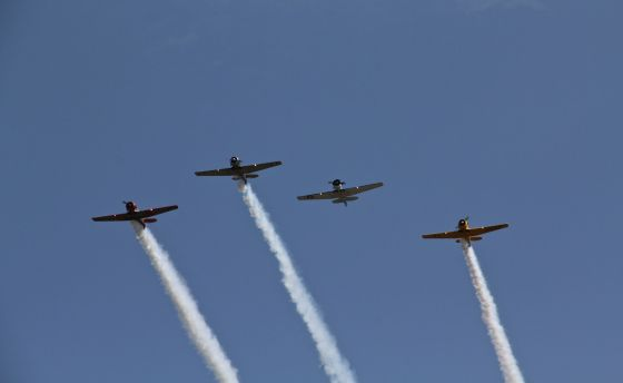 "Honor flyover, up, up, and ""beyond""..."