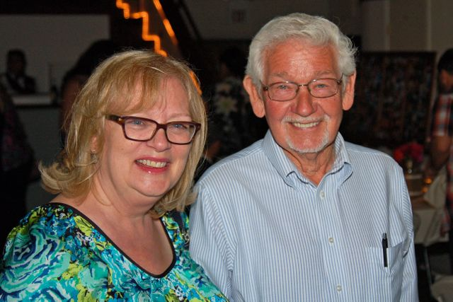 Deb and her Dad, my Father In Law, enjoyed the party  (photo by Doyt Sheets)
