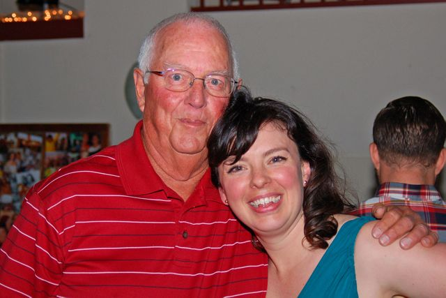 The FD with her Grandpa (my dad) (photo by Doyt Sheets)