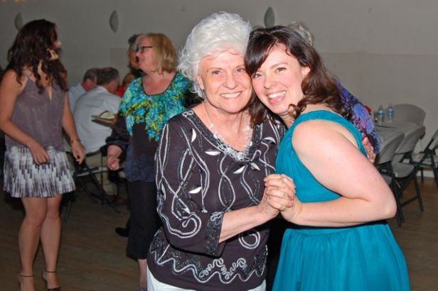 FD dancing with her Grandma (photo by Doyt Sheets)
