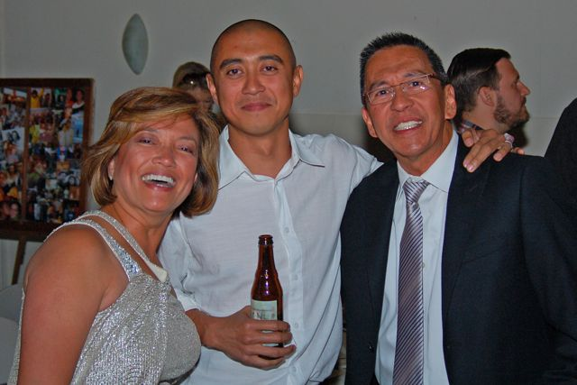 The FSIL with his Dad and Step-Mom - they had a grand time (photo by Doyt Sheets)