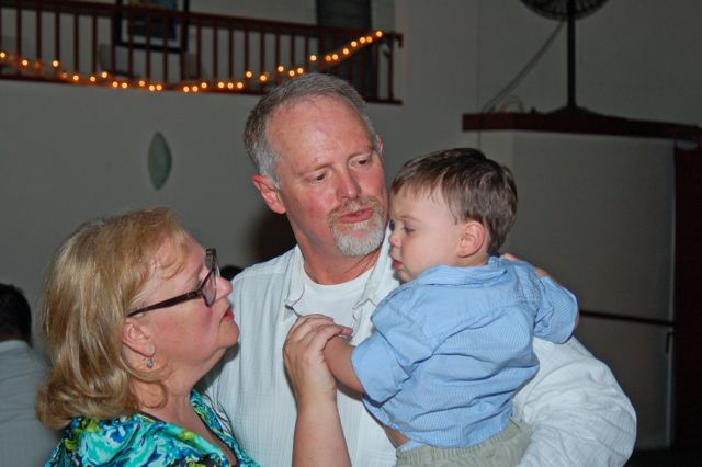 Lincoln dances well with his Grandma and Grandpa   (photo by Doyt Sheets)