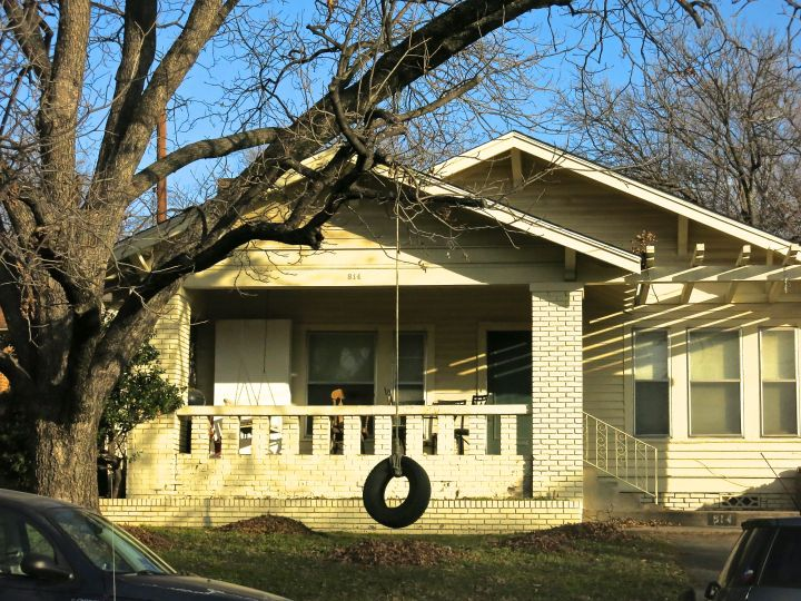 Not every Mayberry-looking house you come upon will have a tire swing in the front yard Elm tree...