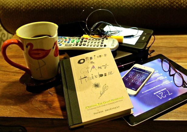 "Nearly every morning I follow the same routine (which annoys me to no end - I can't believe I fall for it either). It was this morning I stood up from my usual sit-spot on the couch and simply said (to myself and the pups), ""Oh my. Maybe this is why I don't sleep much…"" The book is really enjoyable, the coffee cup is an ancient favorite, the other stimulus instruments I could pitch to the way side without too much on a second thought…"