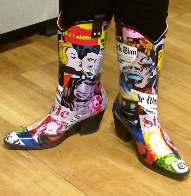Such fashionable boot scooters for a bunch like us (at work)….