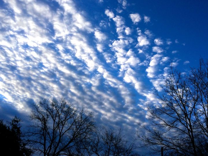 If I keep looking up to the heavens, that's a good thing, yes? And cool looking clouds are between….