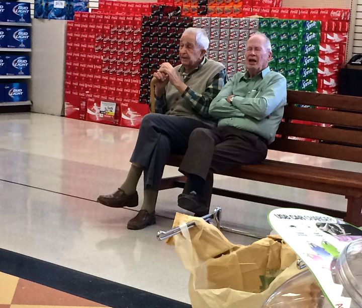 Sometimes if you stop and speak to gentlemen in the local neighborhood grocery, you will so enjoy the conversation...