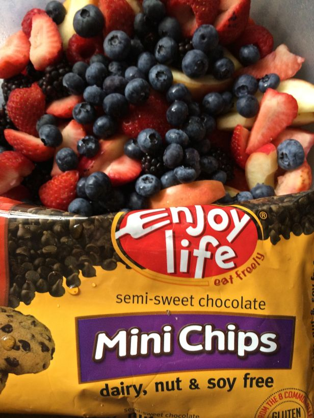 Now I'm into this better eating habit stuff...and love mixed fresh fruit…and still have a favor towards dipping chocolate into melted chocolate...but is this right?