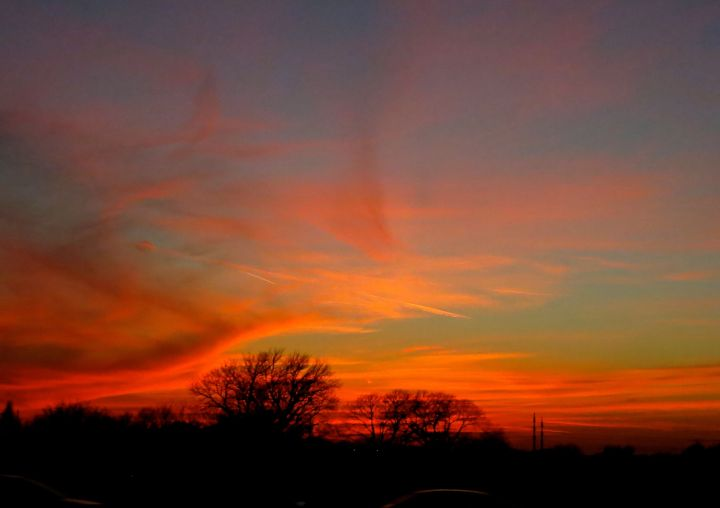 It was this sunset that blessed my commute home tonight….