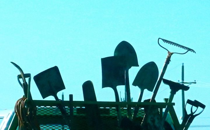 The tools of many a trade,. But it's not every trade that has such a wide selection of shovels to choose from….