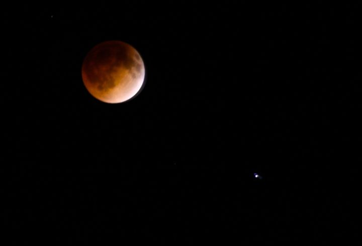 The Blood Moon…with Mars watching