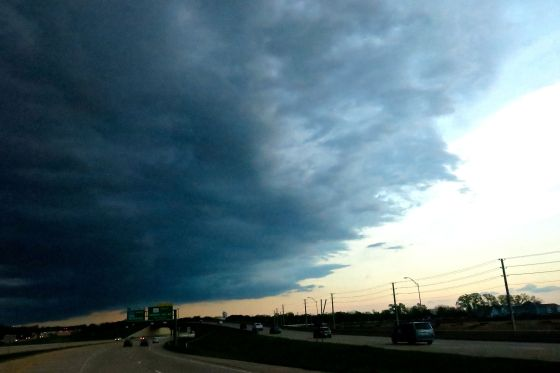 My evening commute home was met by an ominous looking cold front...