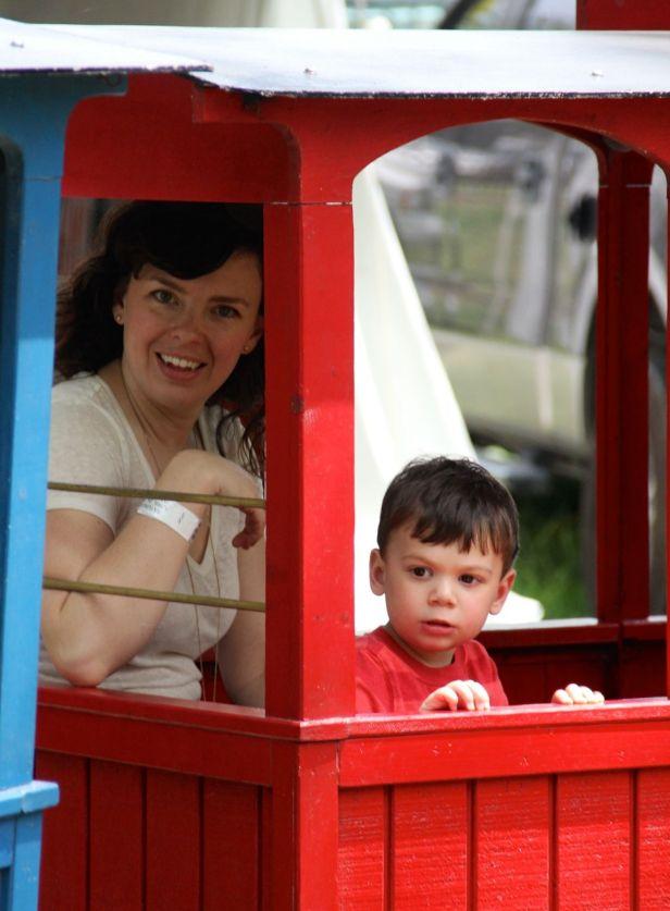 """Aunt """"Tia"""", aka the FD, and Lincoln, aka FGs, take off on a choo-choo train ride…."""