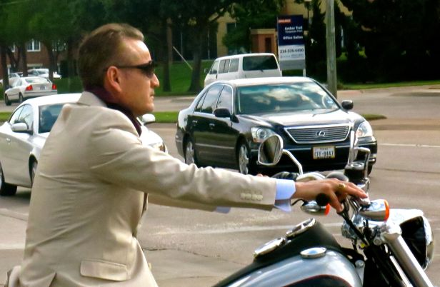 Even the businessman, in his linen suit no less, deserves to go for a ride over lunch….