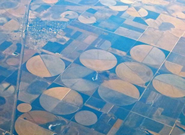 Crop circles…spotted outside Denver