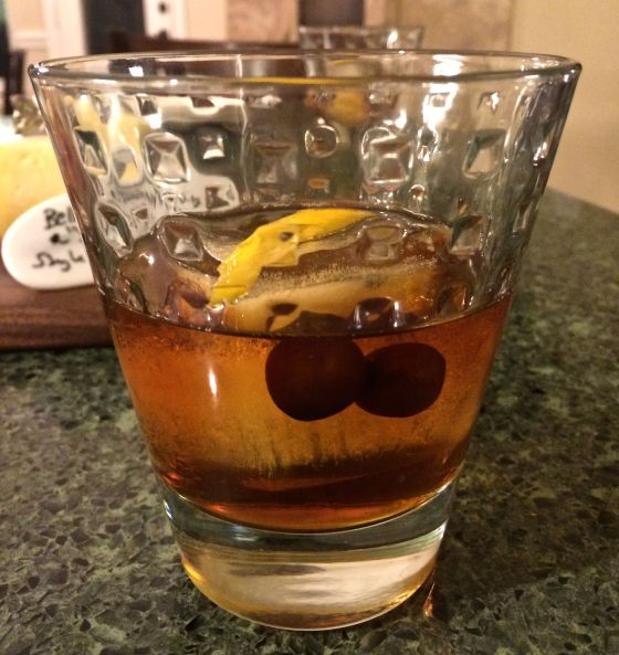 However, our NYE party hosts certainly schooled this guy in fine entertainment...a Vieux Carré cocktail to start the evening. I could get used to this delightful New Orleans classic….